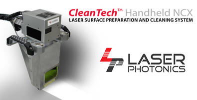 CleanTechT NCX Laser Surface Cleaning Machine is used to remove residues.