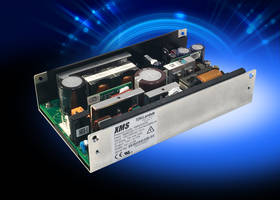 XMS500 Series AC-DC Power Supplies offer input to ground isolation of 1,500Vac.
