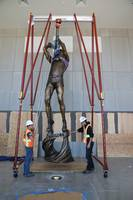 Basketball Pioneer Kenny Sailors and His Jump Shot Immortalized in 21+-Foot Sculpture