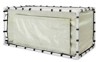 TekBox TBST120/60/60/2 Shielded Tent Enclosures feature rigid aluminum supports.