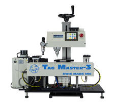 Tag Master 3 Automatic Feeder Marking System features dot peen technology.