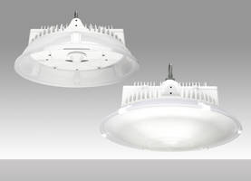 HP Series LED High Bay Pendant features integrated sensor design.