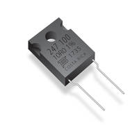 Model PWR247T-100 Series Resistors are offered in TO-247 package.
