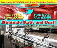 EXAIR Static Promo - Prevent Shocks, Jamming, Tearing and Static Cling!