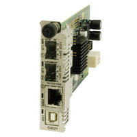 C4221-4848 Extenders support 10Gig SFP module.