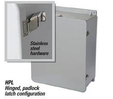 J Series Non-Metallic Enclosures offer 180° door opening.