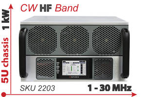 Model 2203 High Power HF Amplifier comes with thermal overload protection.