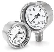 Ashcroft® 1008S Pressure Gauges meet NEMA 4/IP66 ingress ratings.