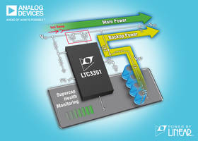 LTC3351 Supercapacitor Backup Power Controller features 2-wire I²C interface.