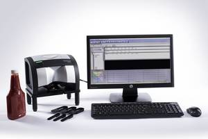 MetaVue VS3200 Imaging Spectrometer comes with an adjustable stand.