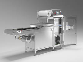P5-A Automatic Sealing Machine features PLC color touchscreen.