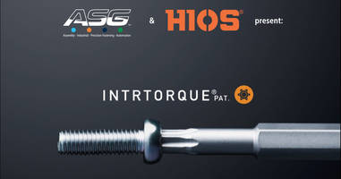 INTRTORQUE® Screw and Bit Combination features tapered end.