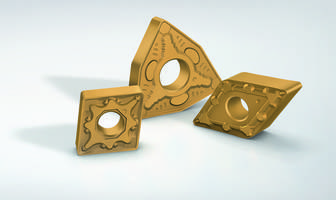 WPV10 and WPV20 Turning Inserts come with CVD coating and gold color.