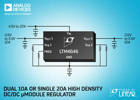 LTM4646 μModule Regulator features on-board remote sense amplifiers.