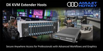 DX KVM Extenders support standard IP-based LAN/WAN networks.