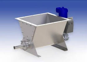 Model VMF-90A™ Screw Feeder features a built-in cam actuated hopper agitator.