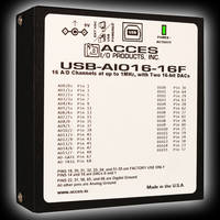 USB-AIO16-16F Modules offer a sampling rate of up to 1 MHz.