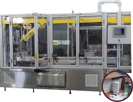 V30M Robotic Tray Packer features PanelView Plus 1000 color touchscreen.