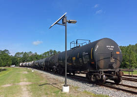 LED Solar Security Light for Railroad Switchyard