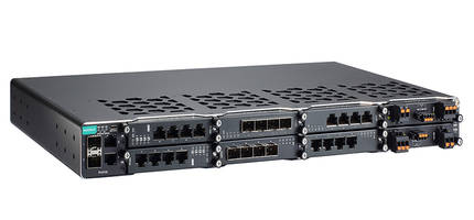 PT-G7828/G7728 Managed Switches provide selectable RJ45/SFP/PoE+ interfaces.