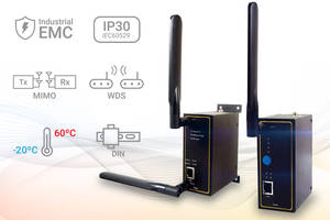 Mencom's Wireless Access Points feature built-in DIN-rail mount.