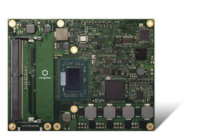 COM Express Type 6 Module supports DirectX 12 and OpenGL 4.4 for 3D graphics.