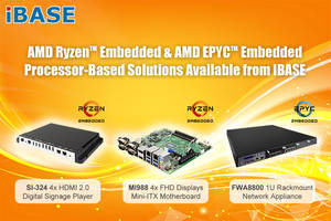 AMD Ryzen™ Embedded and AMD EPYC™ Embedded Processor-Based Solutions Available from IBASE