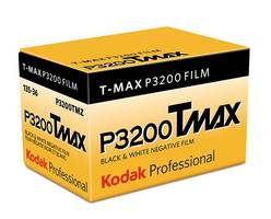 Kodak Professional T-Max P3200 Film/TMZ is a multi-speed panchromatic black-and-white negative film.