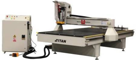 Titan Series CNC Router from Techno provides ultra-smooth cut quality and edge finish.