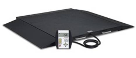 Model 6400 Wheelchair Scales are equipped with model 750 basic indicator.