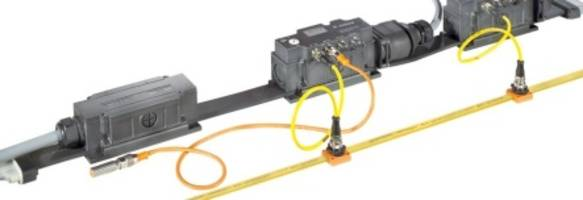 Seven Conductor Podis® Power Bus System is rated for up to 20 amps and 600 volts.