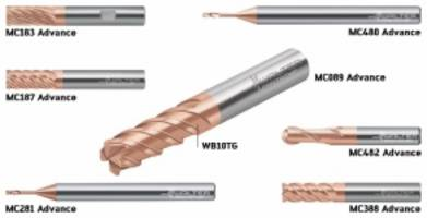 ISO H Advance Line of Solid Carbide Milling Cutters are tailored for hard machining.