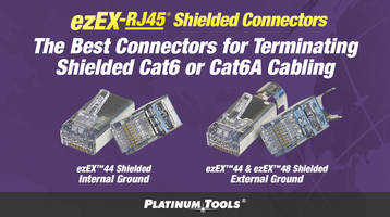 ezEX-RJ45® Shielded Connectors feature integrated Hi-Lo stagger load bar.