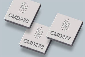 GaN Low Noise Amplifiers are housed in leadless 4 x 4 mm QFN package.