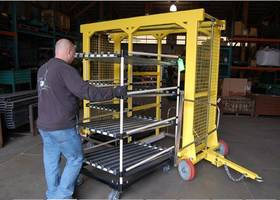 Topper Industrial Shows off Safety Features in New Video Highlighting their Patented Pending Walk through Mother Daughter Cart System