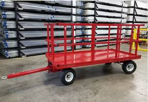 Innovations in Cart Delivery: Topper Quad Steer Cart with Rotate Top.