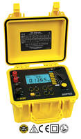 Model 6255 10A Micro-Ohmmeter uses four-lead Kelvin method of testing.