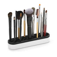 Qosmedix's Beauty Tool Organizer allows storage of items in upright position.