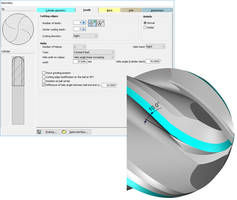 NUMROTO Tool Grinding Software allows programming of a helix steps on end mills.
