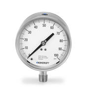 Ashcroft® 1209 Pressure Gauge offers an accuracy span up to ±0.50%.