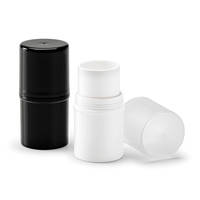 Qosmedix's Makeup Stick Containers come with corresponding caps.