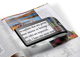 SmartLux Digital Video Magnifier Comes with Resolution of 800 x 480 pixels.