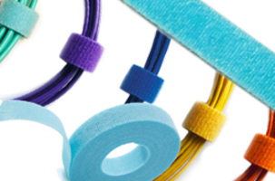 New FIBERtie™ - Hook and Loop Ties are Offered in Special Fiber Optic Cabling Colors