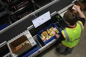 Dematic's New Goods-to-Person Solution Uses Patented Inter-Aisle Transfer (iAT) Capability