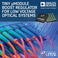 Analog Devices' Regulator Now Comes in Wide Voltage Range