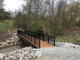 Zero Maintenance Standard Single Panel FRP Trail Bridges Ease Budget Burdens