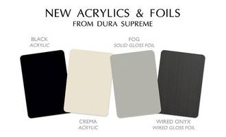 Dura Supreme Cabinetry's New Acrylic and Foil Color Options are Designed for Bria Cabinetry