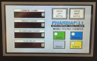 New Deitz Pharmafill TC4 Tabletop Pill Counter with HMI for Presenting All Data on Single Screen