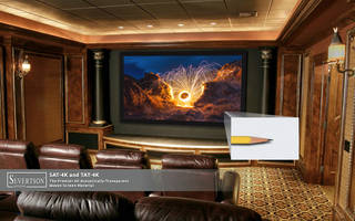 New SAT-4K Transparent Projection Screens are Resistant to Flame and Mildew