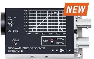 New PWPR-2K Picowatt Photoreceiver Provides Bandwidth from DC to 2 kHz
